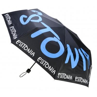 Vihmavari Estonia Sini-must-valge