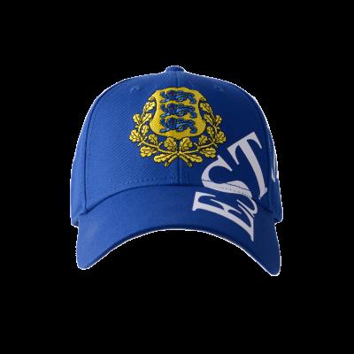 Nokamüts Estonia vapiga sinine