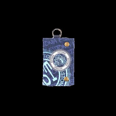 Sinine Estonia rahakott siniste kirjadega ja teksa materjalist