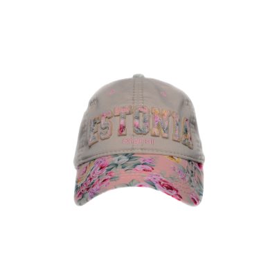 Estonia lilleline nokamüts roosa
