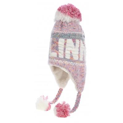Patsidega Tallinna talvemüts roosa