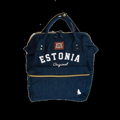Sinine Estonia seljakott hundiga