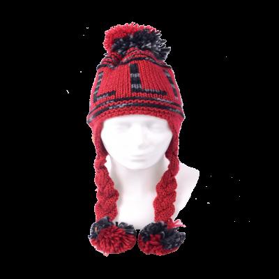 Patsidega Tallinna talvemüts punane