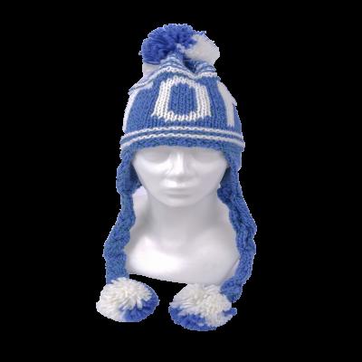 Patsidega Estonia talvemüts sinine