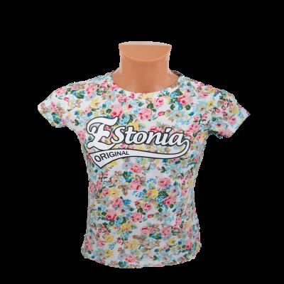 Estonia lilleline T särk valge