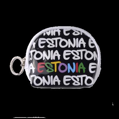 Värviline Estonia mündikott S