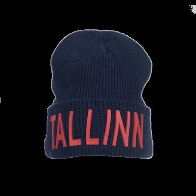 Talvemüts Tallinn tume sinine