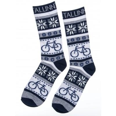 Meeste sinised sokid jalgrattaga Tallinn