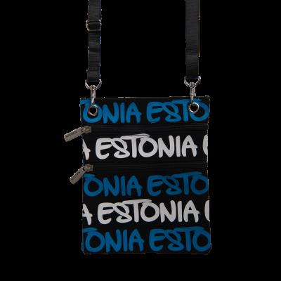 Kaelakott Estonia sini-must-valgete kirjadega